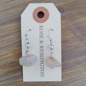 Rose & Remington rose quartz earrings